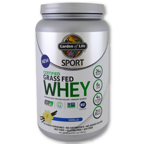 CERTIFIED GRASS FED WHEY PROTEIN VANILLA