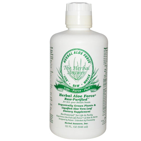 RAW ALOE VERA HERBAL ALOE FORCE 32 OZ
