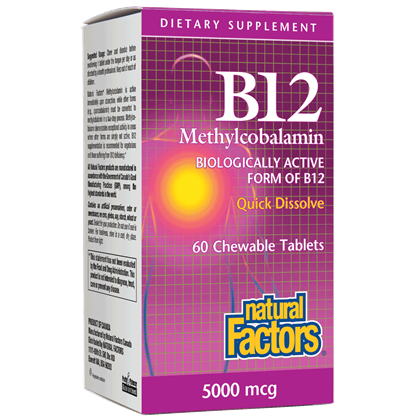B-12 METHYLCOBALAMIN 5000 60 CHEWABLE TABLETS