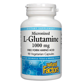 MICRONIZED L-GLUTAMINE 1000 MG 90 VEGETARIAN CAPSULES