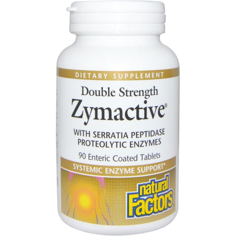 ZYMACTIVE PROTEOLYTIC ENZYME DOUBLE STRENGTH 90 ENTERIC COATED TABLETS