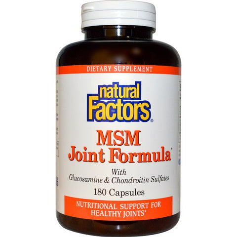MSM JOINT FORMULA w/ GLUCOSAMINE & CHONDROITIN SULFATE 180 CAPSULES