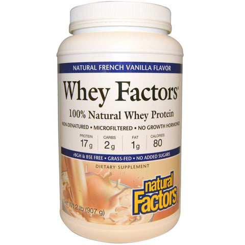 WHEY FACTORS 100% NATURAL WHEY PROTEIN VANILLA 2 LB