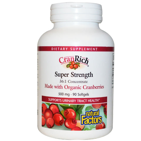 CRANRICH SUPER STRENGTH 36:1 CONCENTRATE 500 MG 90 SOFTGELS