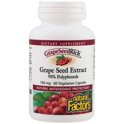 GRAPE SEED EXTRACT 95% POLYHENOLS 60 VEGETARIAN CAPSULES