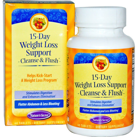 15 DAY WEIGHT LOSS SUPPORT CLEANSE & FLUSH 60 TABLETS