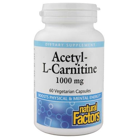 ACETYL-L-CARNITINE 1000 MG 60 VEGETARIAN CAPSULES