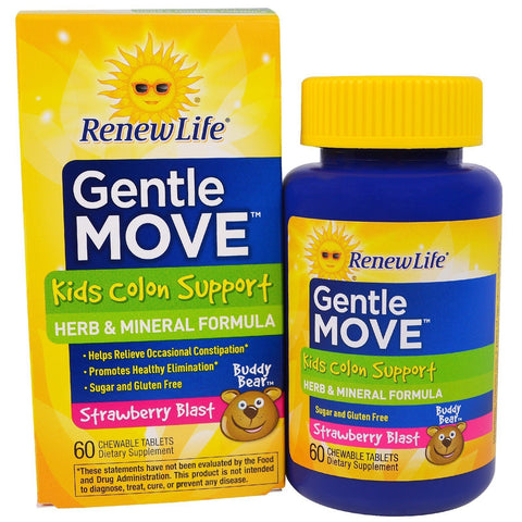 GENTLE MOVE KIDS COLON 60 CHEW