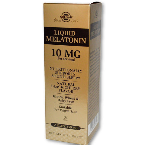 LIQUID MELATONIN 10 MG NATURAL BLACK CHE