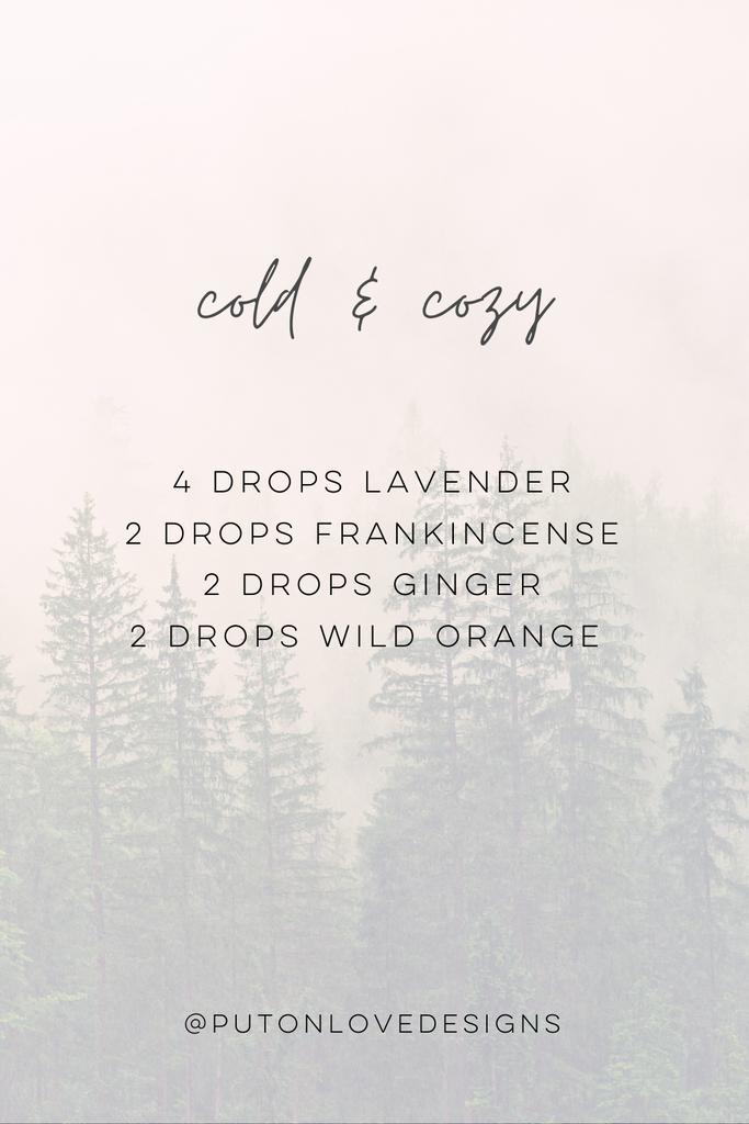 Cold & Cozy Essential Oil diffuser blend for fall