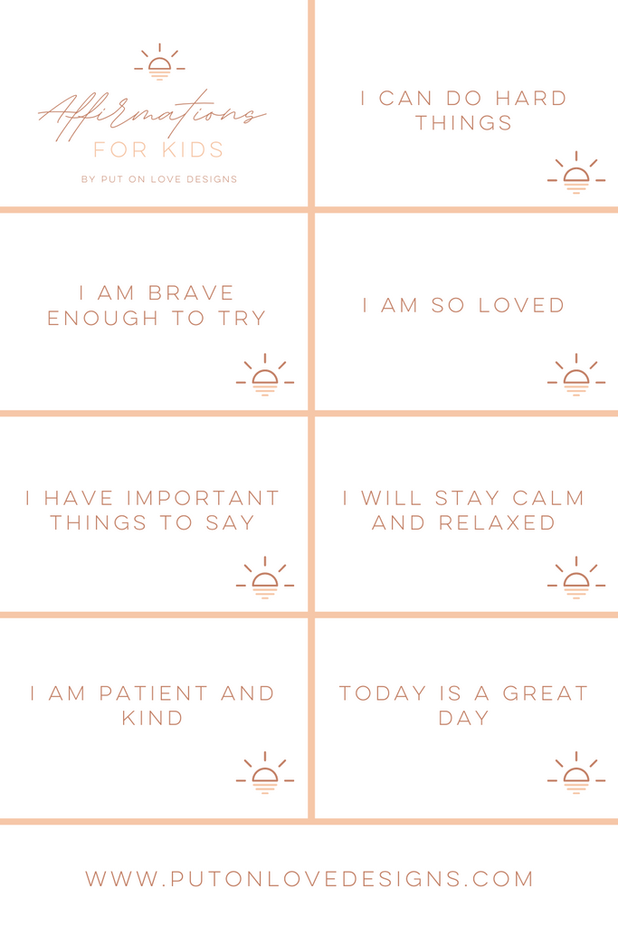 7 Positive Affirmations for Kids Free Printable
