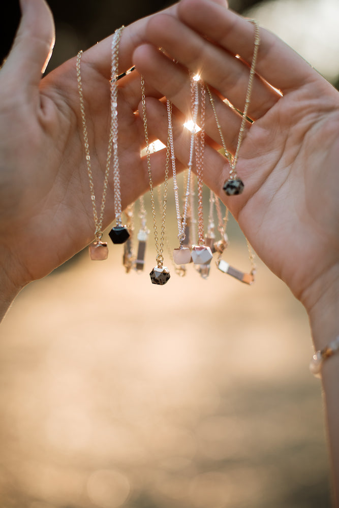 Giftable gemstone necklaces for her.