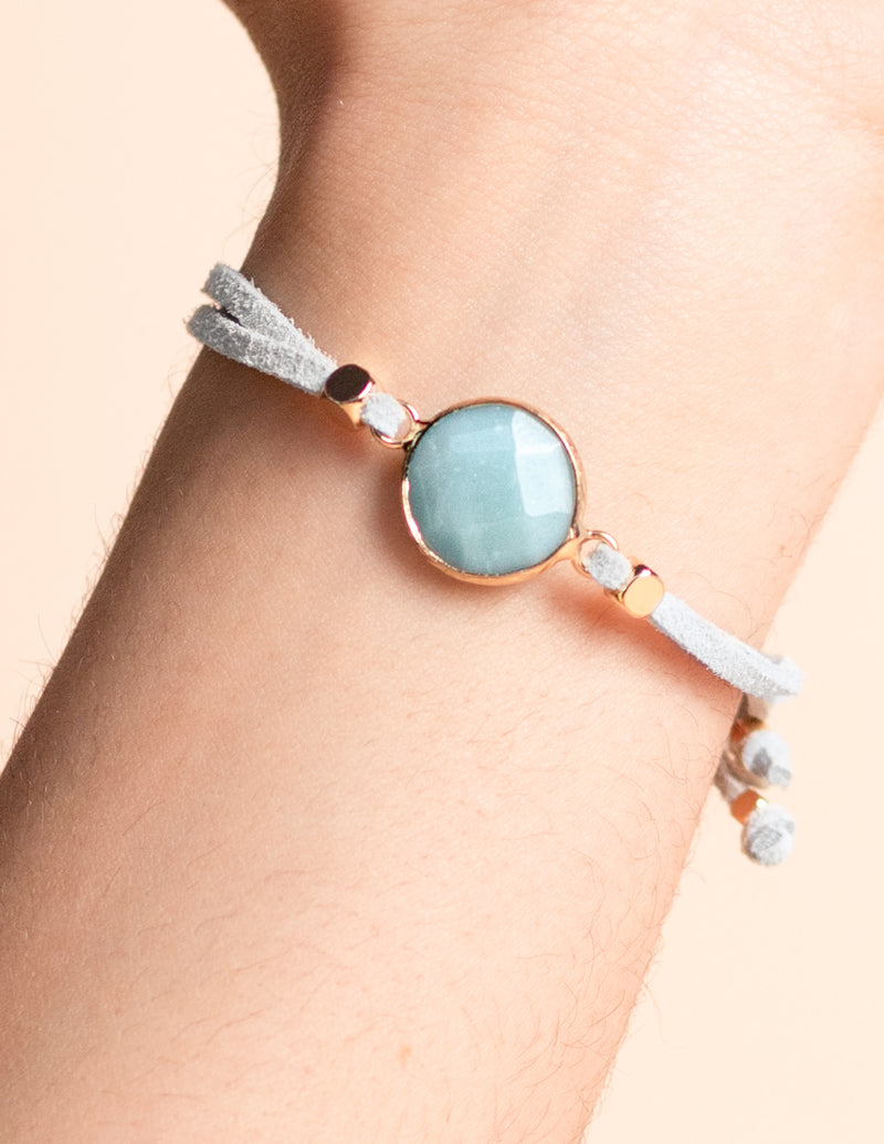 Amazonite Gemstone Slider Diffuser Bracelet
