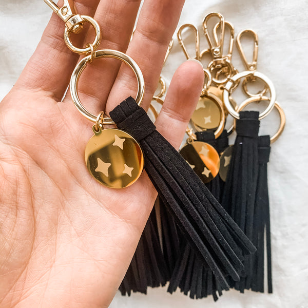 Starry Eyed Black Diffuser Keychain
