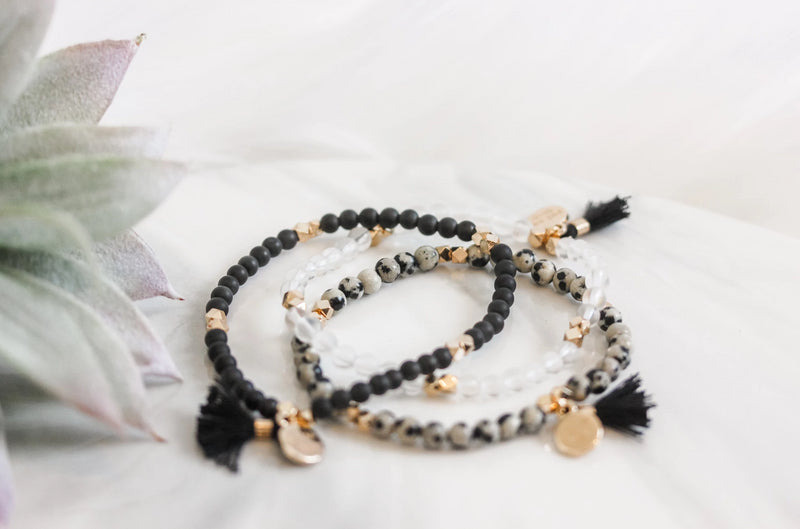 Gemstone Affirmation Beads- Fearless Set