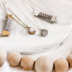 Druzy Charm Diffuser Necklace