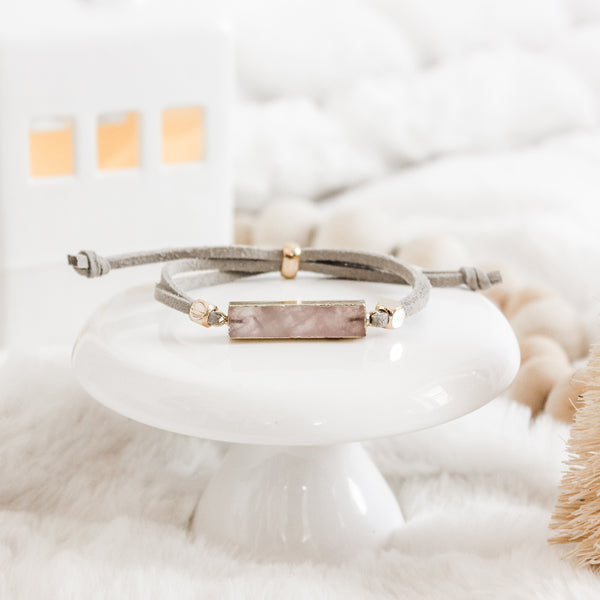 Rose Quartz Gold Gemstone Slider Diffuser