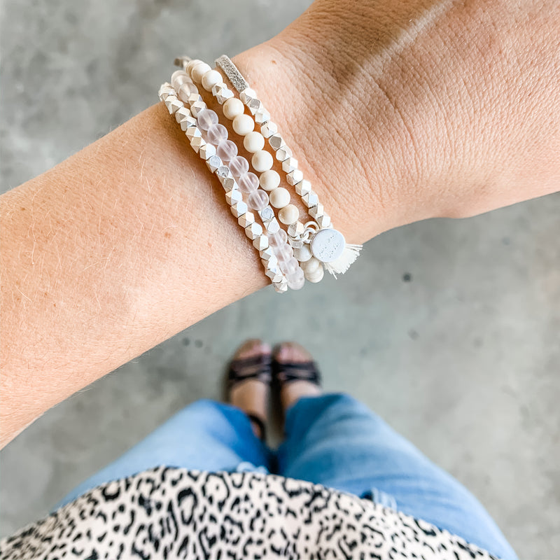 Metallic Slider Diffuser Bracelet Set