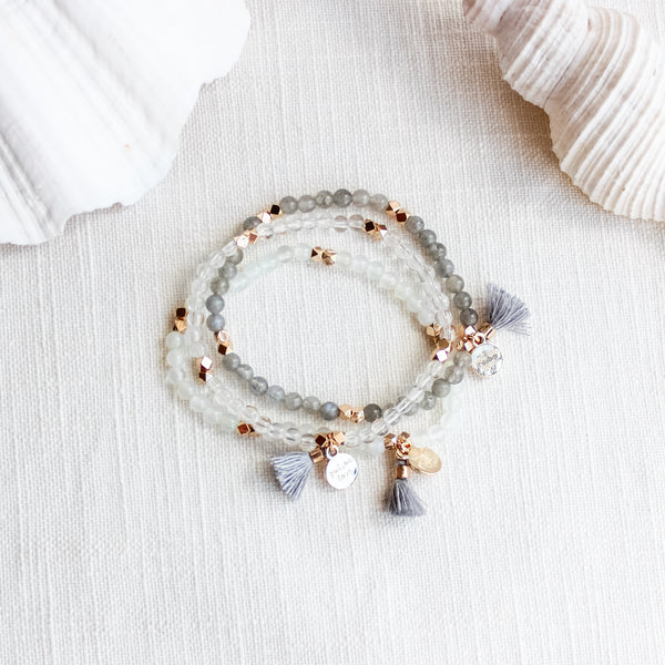 Clarity Gemstone Affirmation Beads