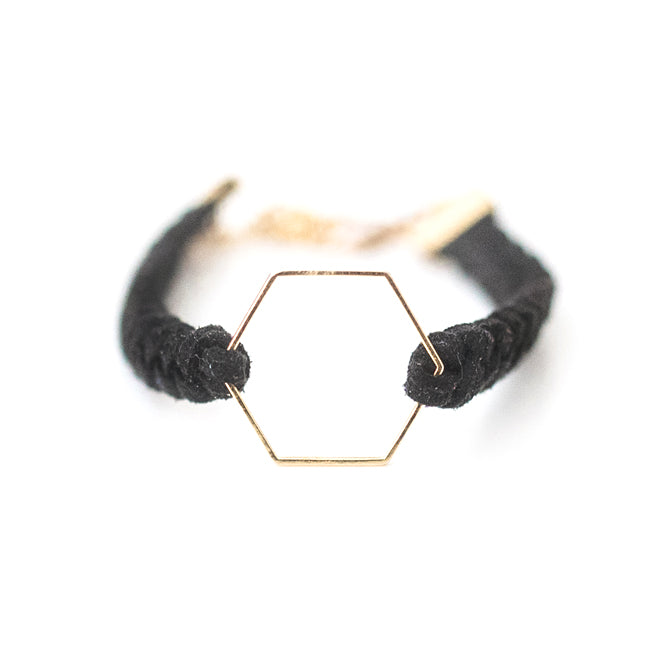 Gold Hexagon Essential Oil Diffuser Bracelet