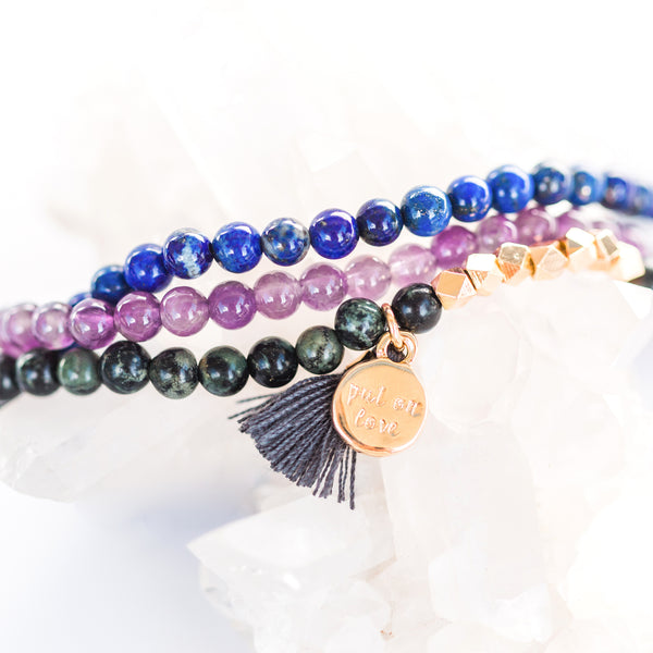 Gemstone Affirmation Beads- Mindfulness Set