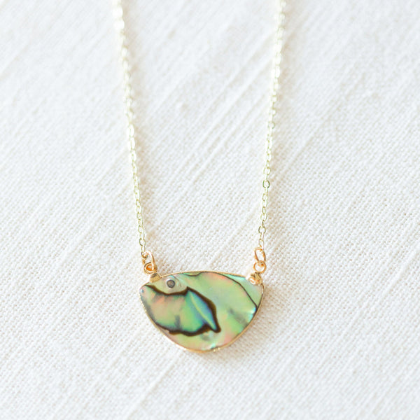 Abalone Diffuser Necklace
