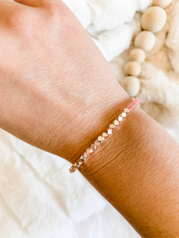 Mommy and Me Metallic Slider Diffuser Bracelet Set