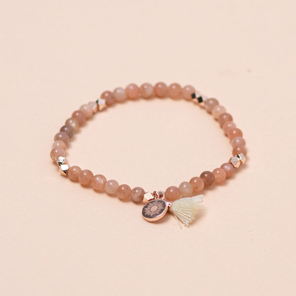 Sunstone Gemstone Affirmation Bracelet