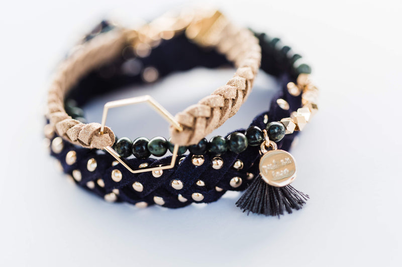 Gold Studded Essential Oil Diffuser Bracelet