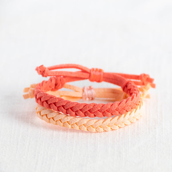 Kids Adjustable Diffuser Bracelet Sets- Brights