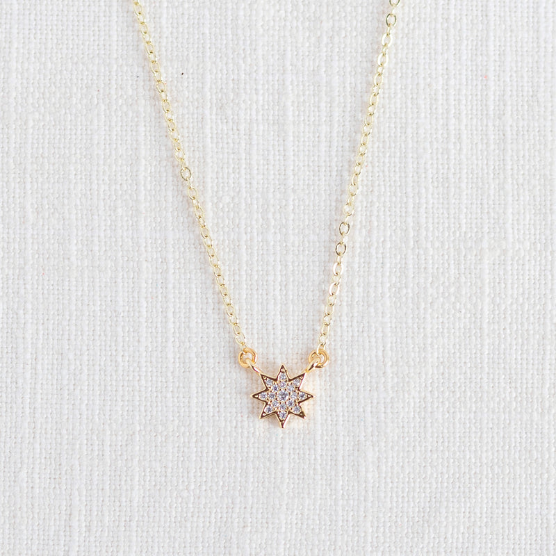 Dainty Sun Burst Diffuser Necklace