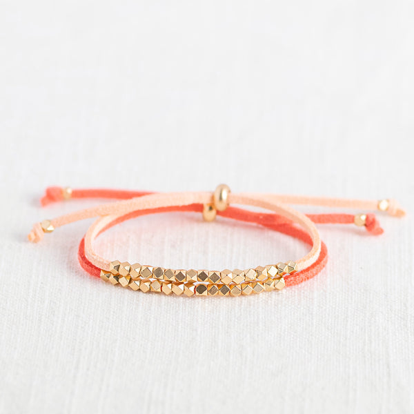 Sunset Metallic Slider Diffuser Bracelet Set