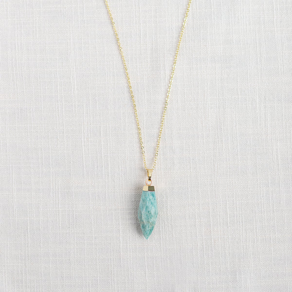 Amazonite Mid Length Gemstone Diffuser Necklace