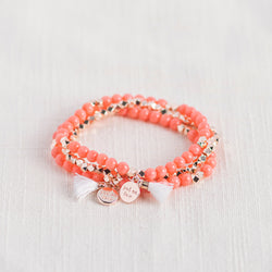 Passion Set Gemstone Affirmation Beads- Pink Coral