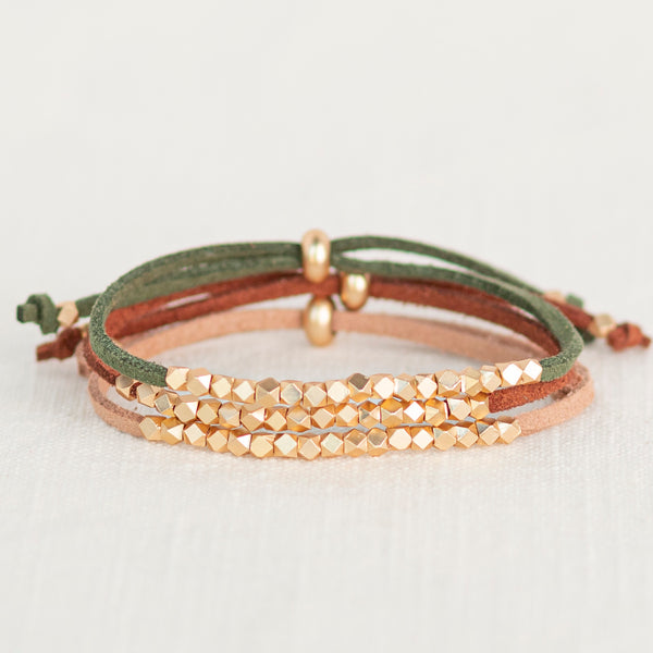 Autumn Evening Metallic Slider Diffuser Bracelet Set