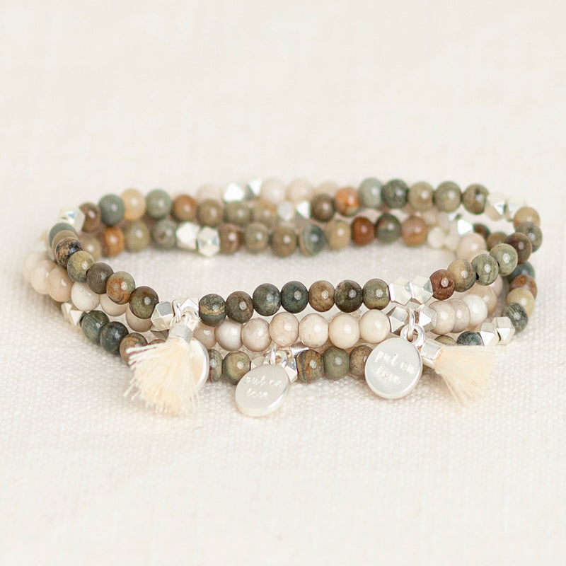 Rooted Gemstone Affirmation Beads