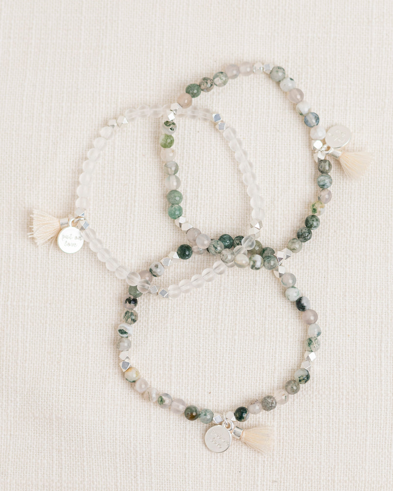 Tranquility Gemstone Affirmation Beads