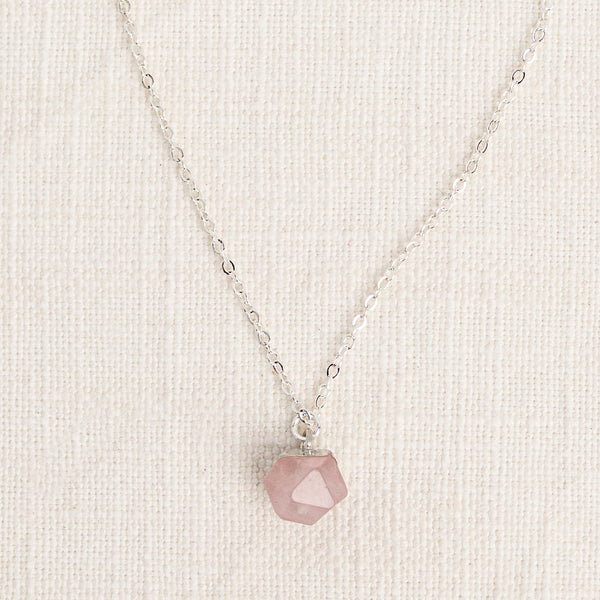 Rose Quartz Gemstone Diffuser Necklace