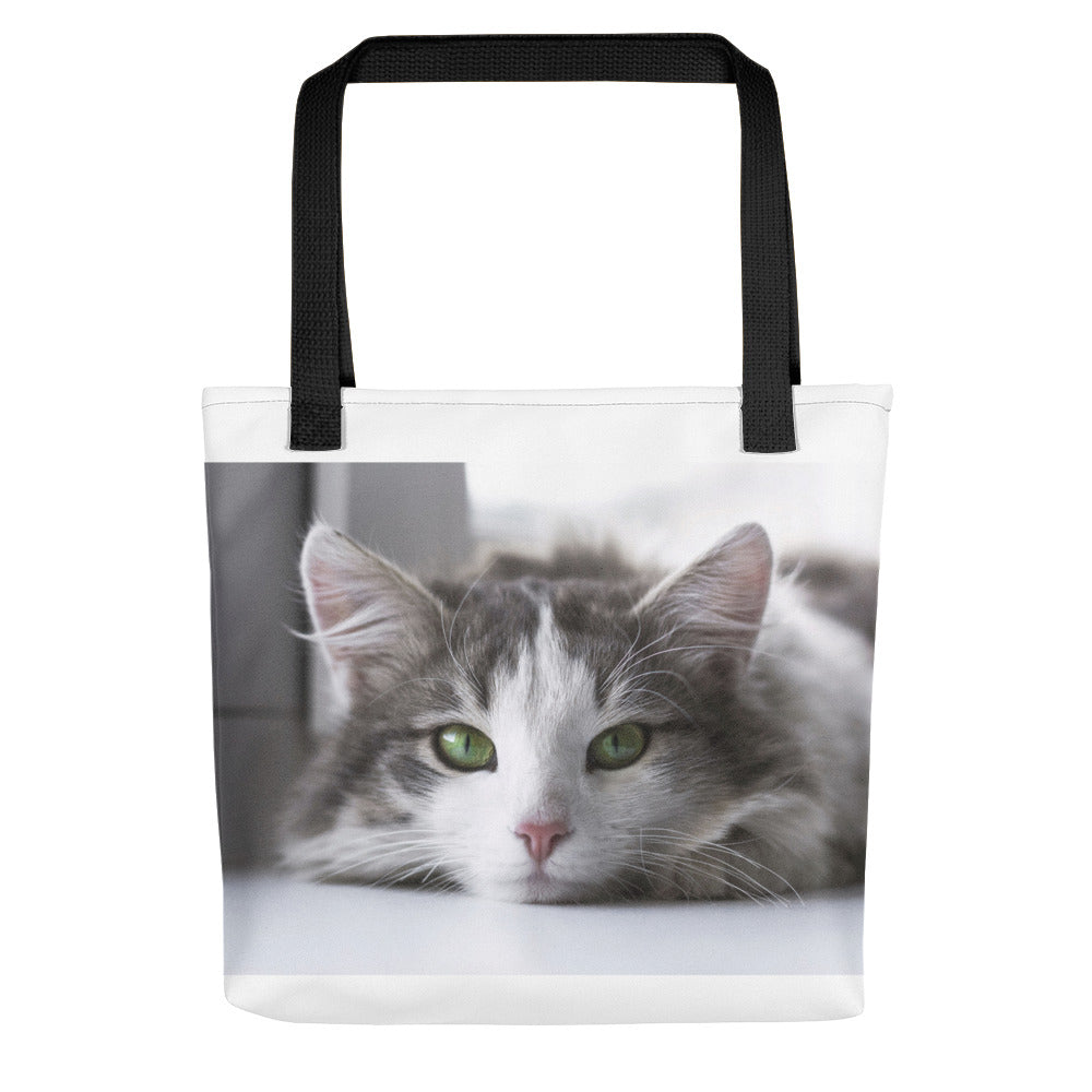 Daydreaming Cat Tote Bag - made in the USA