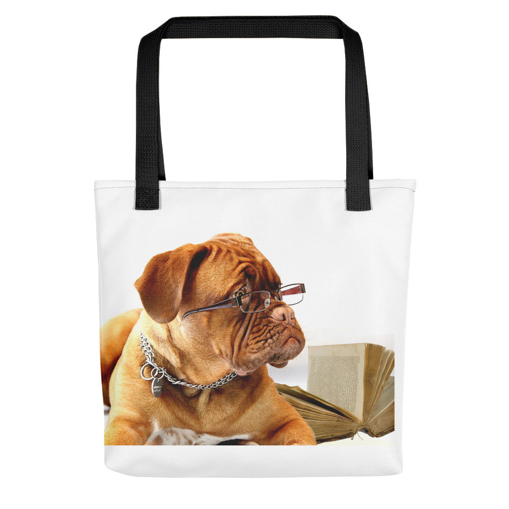 Reading Dog Tote Bag - made in the USA