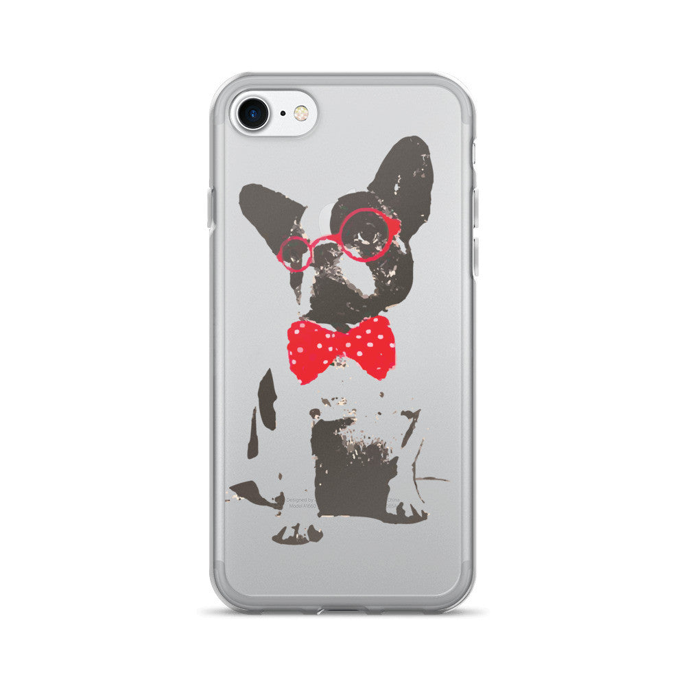 Dog with Red Glasses and Bowtie iPhone 7/7 Plus Case - Wild Pet Styles