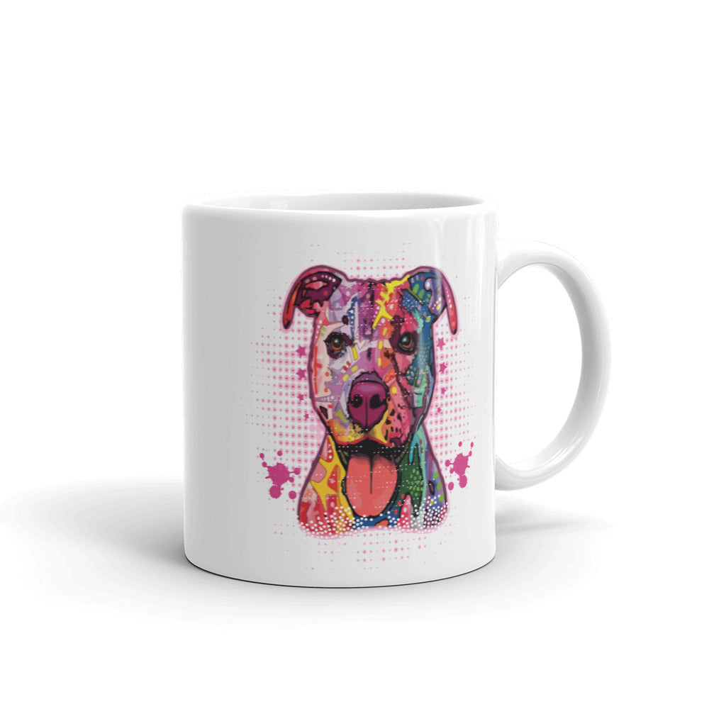 Pitbull Dog Art Mug made in the USA - Wild Pet Styles