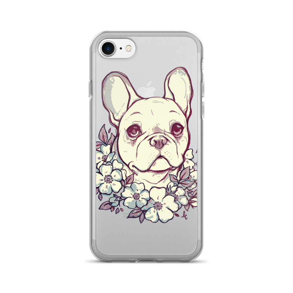 Dog With Flower Wreath iPhone 7/7 Plus Case - Wild Pet Styles