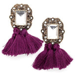 Vintage Tassel Statement Stud Earrings
