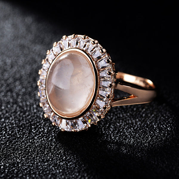 Natural Pink Crystal Ring