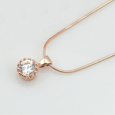 Crystal Gold Plated Chain Necklace