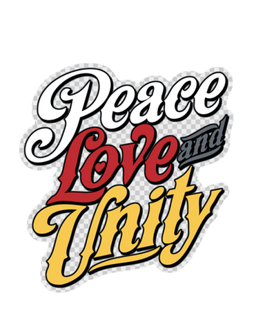 Peace Love & Unity Sticker