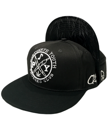 Smokers Club Embroidered Snapback (Grey)