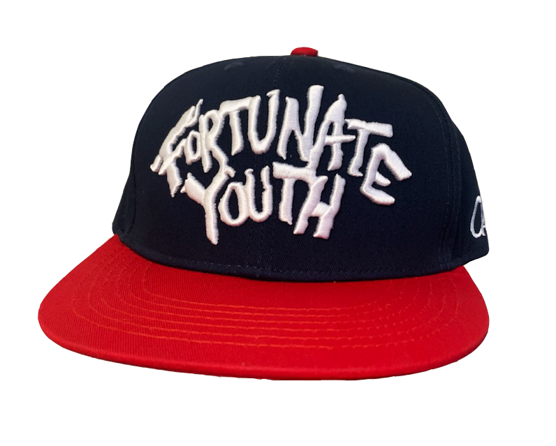 Rock Logo Snapback Navy/Red