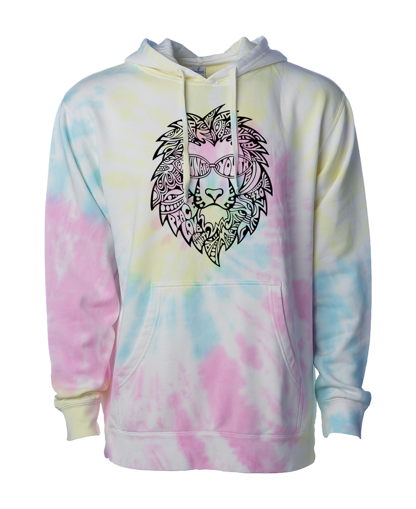 Tie Dyed Lion Pullover